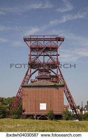 "Picture of ""Mine head tower, Consol Park, former Zeche."