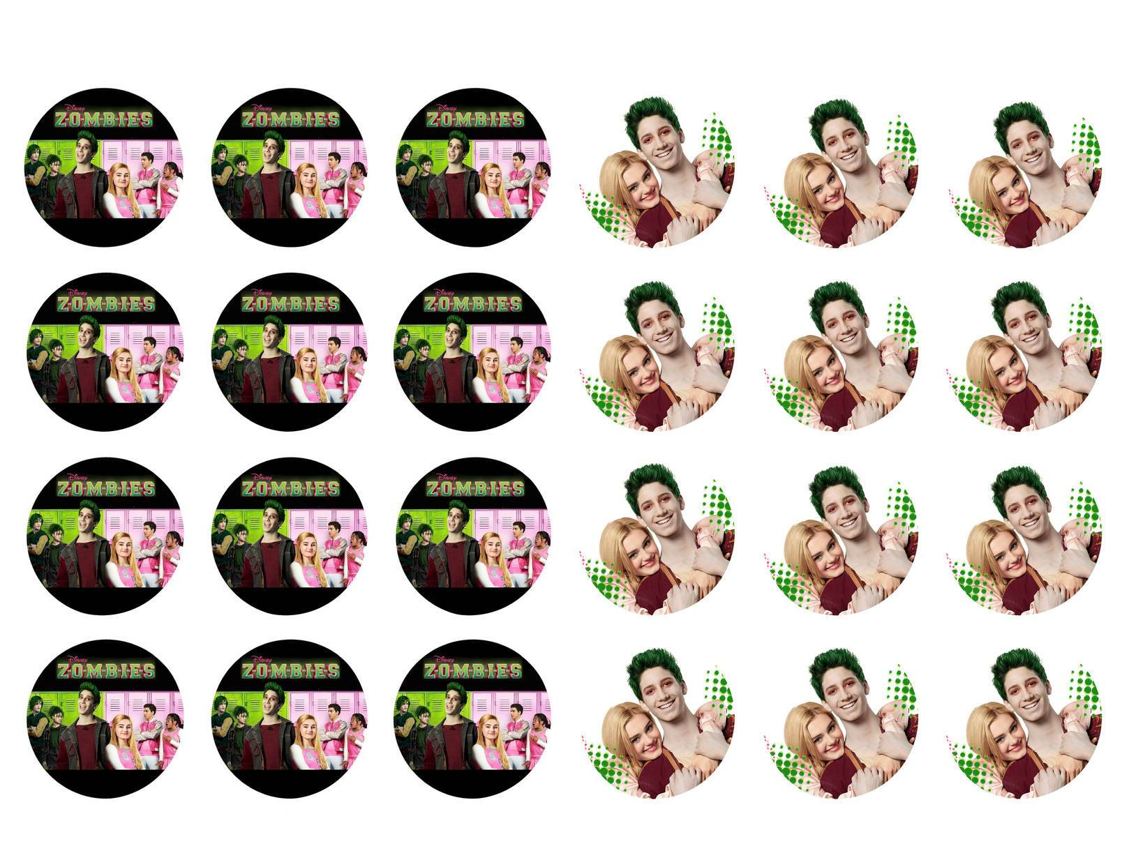 Disney Zombies Zed Addison Bucky Edible Cupcake Toppers ABPID05778.