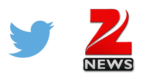 Shame ON Twitter !! Account of this Patriotic Zee News.