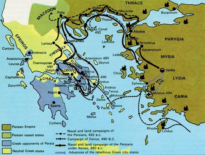 Persian war clipart map.