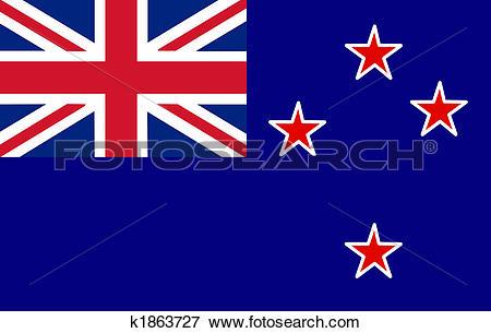 Stock Illustration of New Zeeland Flag k1863727.