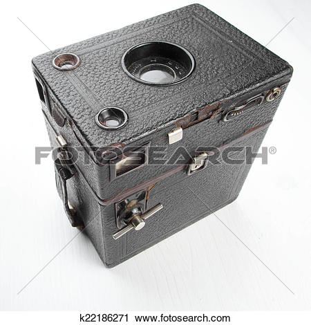 Stock Photography of Zeiss Ikon Box Tengor old fashion camera.