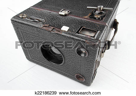 Stock Photograph of Zeiss Ikon Box Tengor old fashion camera.