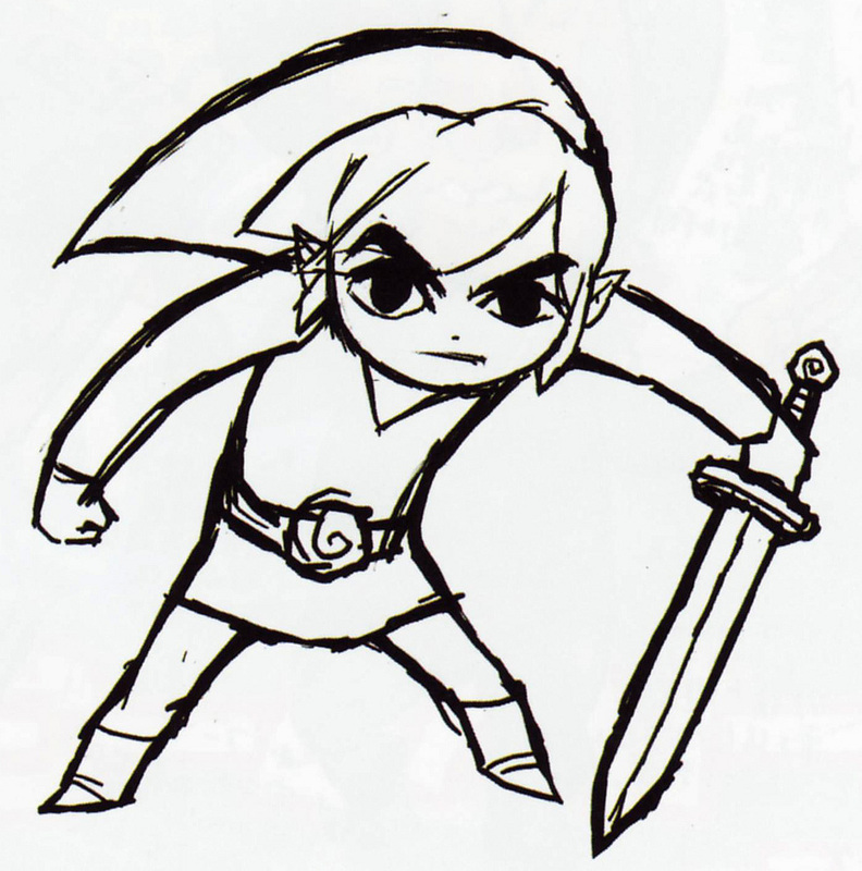 Free Black And White Legend Of Zelda, Download Free Clip Art.