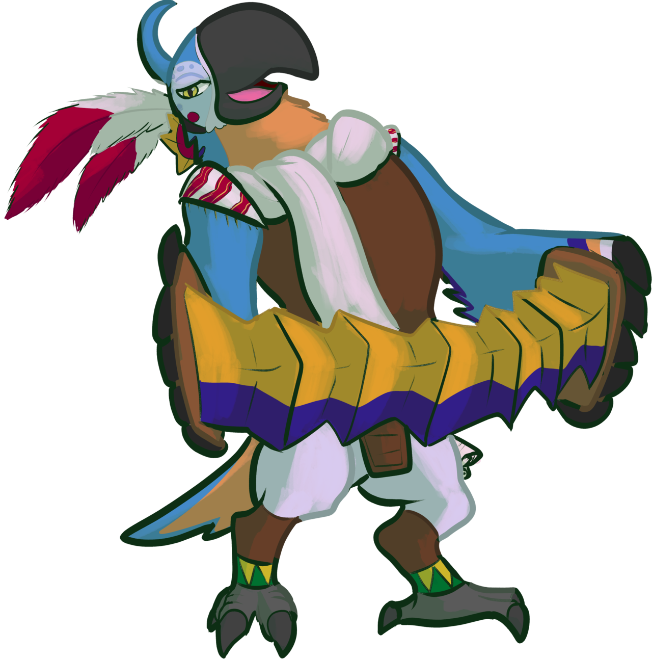 Kass (Zelda: Breath of the Wild) by DoctorNuclear on DeviantArt.