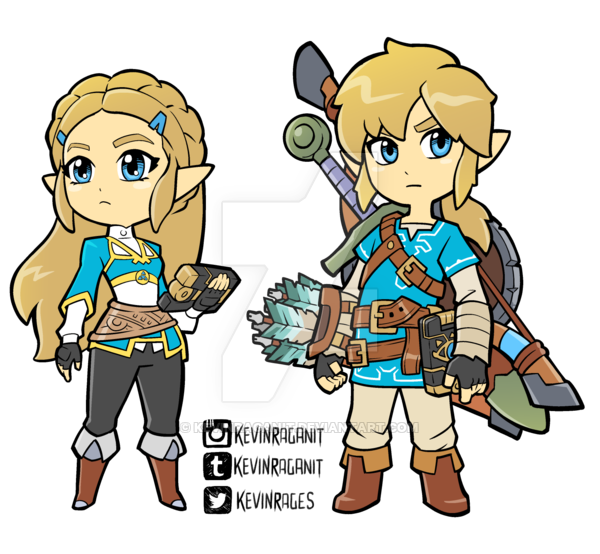 Zelda and Link Breath of the Wild by KevinRaganit on DeviantArt.