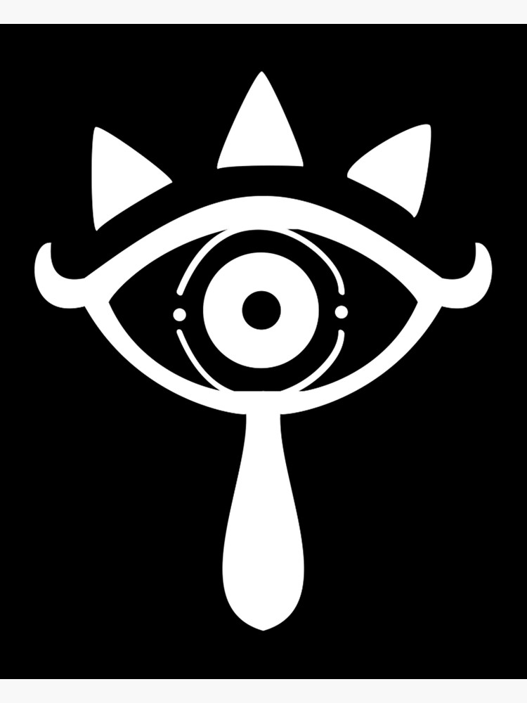 Legend Of Zelda Breath Of The Wild: Sheikah Symbol (White and Black).