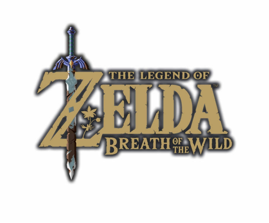 The Legend Of Zelda Breath Of The Wild Logo With Outline.