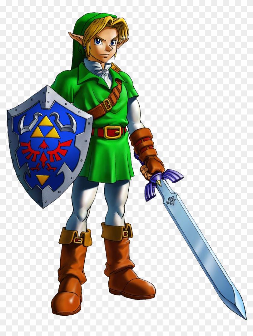 Link Zelda Ocarina Of Time , Png Download.
