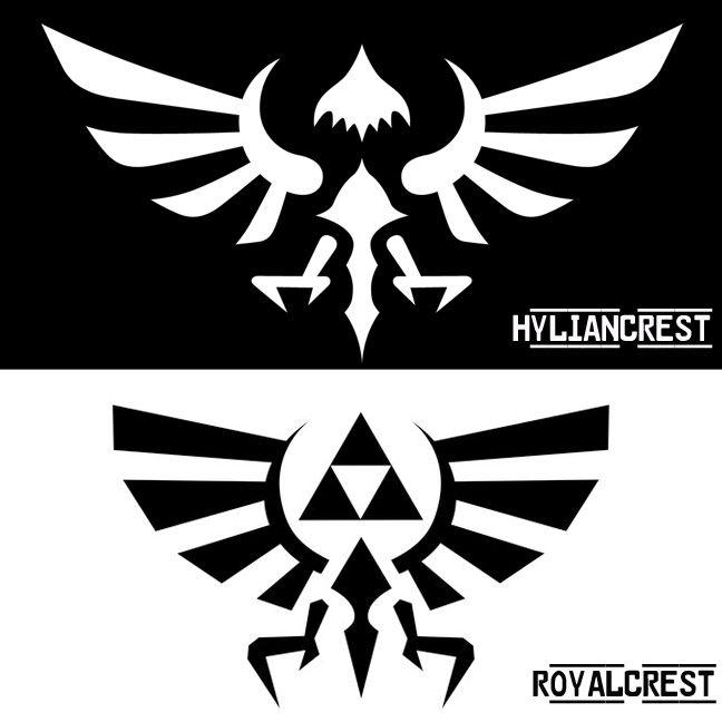 Hylian Crest vs. Royal Crest.
