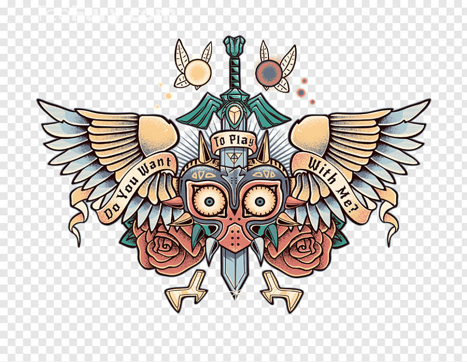 Bird Tattoo, Legend Of Zelda Majoras Mask, Legend Of Zelda.