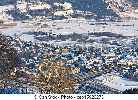 Picture of Ski resort Zell am See, village Schuttdorf. Austria.