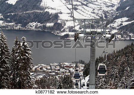 Stock Photo of Zell Am See Ski resort Austria k0877182.