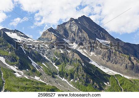 Picture of Panoramic view of mountain range, Kitzsteinhorn, Alps.