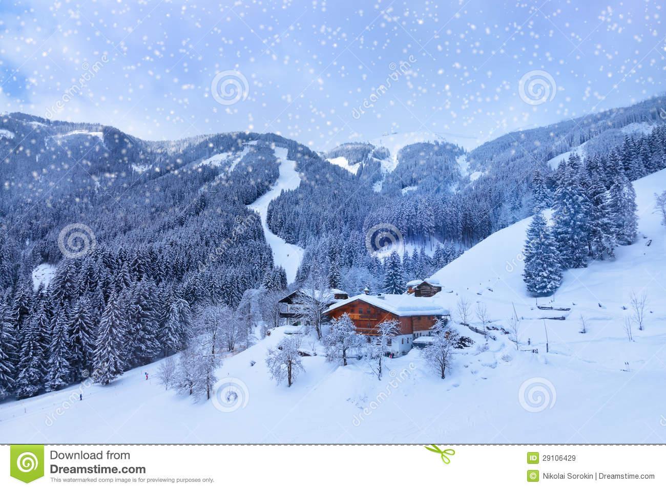 Mountains Ski Resort Zell.
