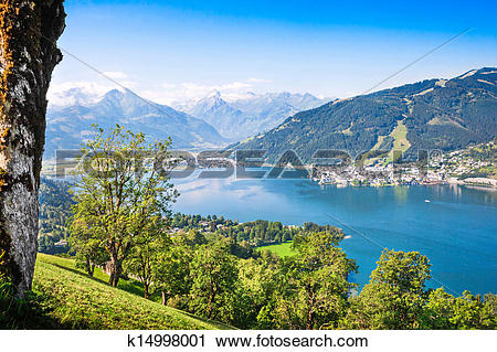 Stock Photography of Beautiful landscape with Alps and Zeller See.