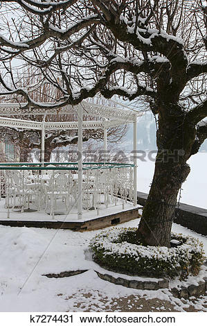 Stock Photography of Winter Landscape in Zell am See, Zeller See.
