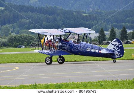 Biplane Pt Stearman Stock Photos, Royalty.