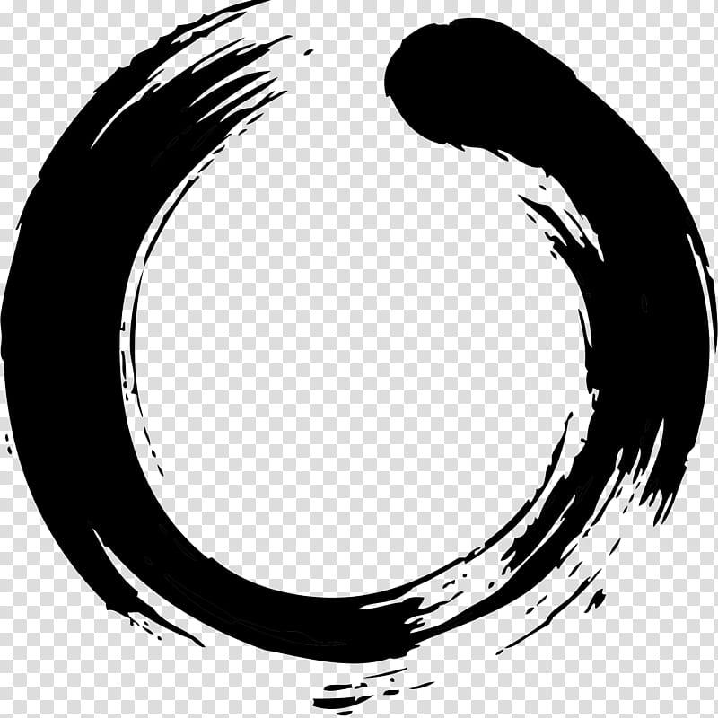 Zen Circle, Buddhism, Symbol, Japanese Calligraphy, Ink Wash.