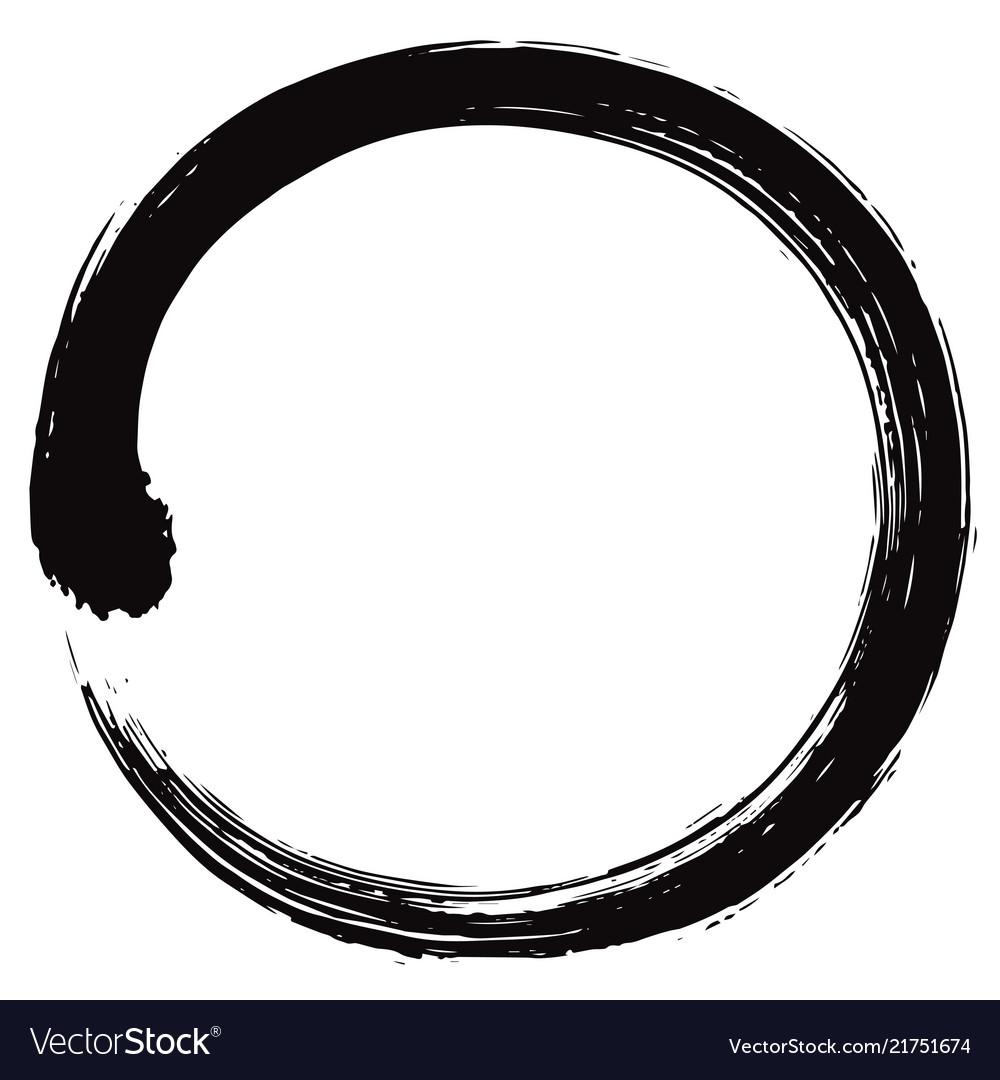 Enso japanese zen circle brush.