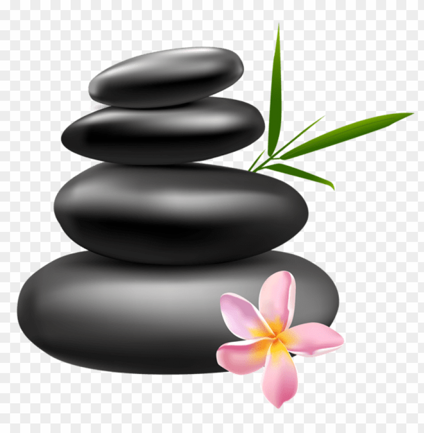 Download spa stones with pink flower clipart png photo.