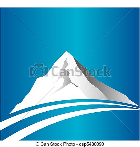 Vector Clipart of Mountain and road csp5430090.