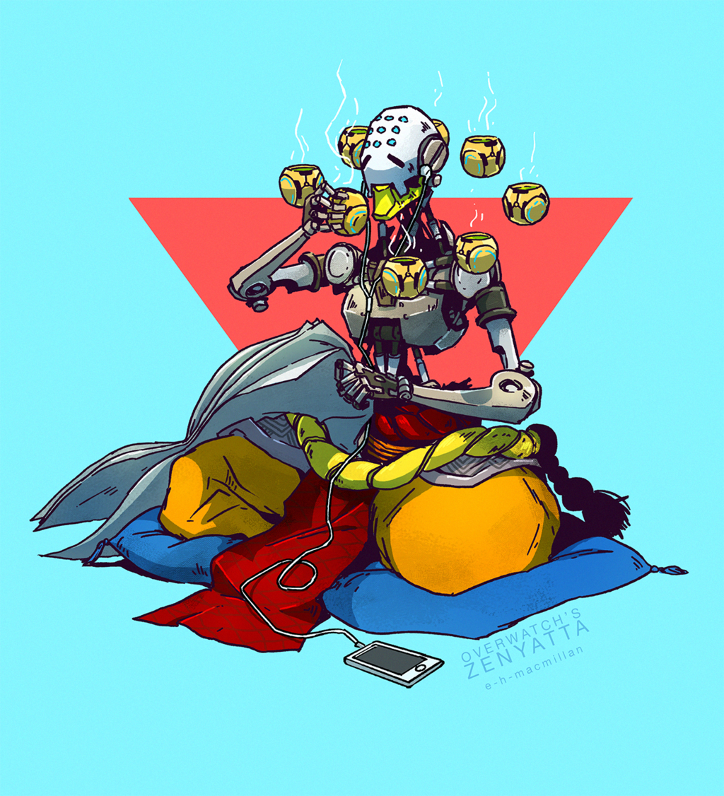 Overwatch's Zenyatta by tinhan on DeviantArt.