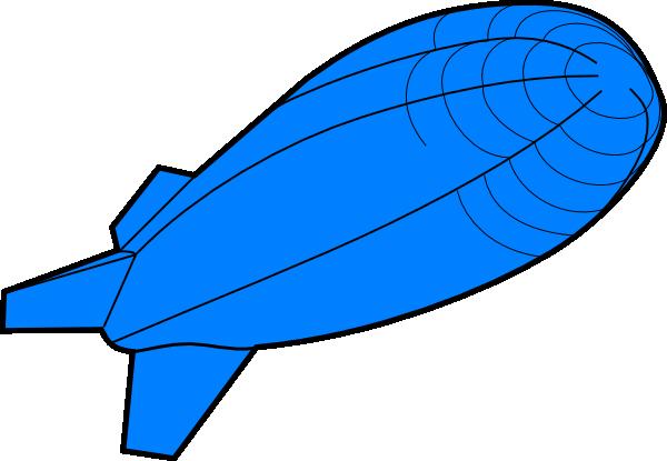 Blue Zeppelin Clip Art at Clker.com.