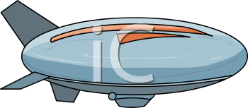 Royalty Free Clipart Image: Cartoon of a Zeppelin.