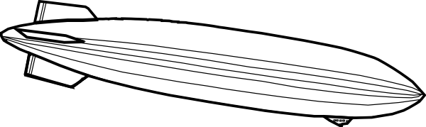 Zeppelin Outline Clip Art at Clker.com.