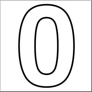 Numbers Clipart Black And White.
