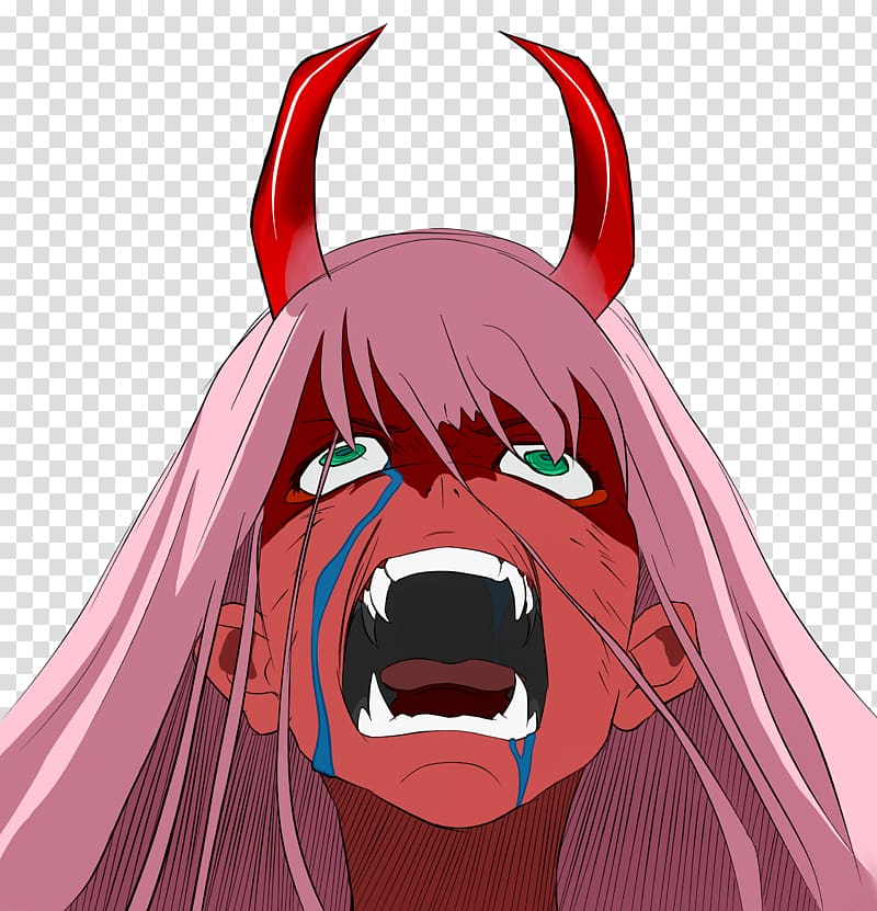 Oni 0 Art Drawing Anime, zero two transparent background PNG.