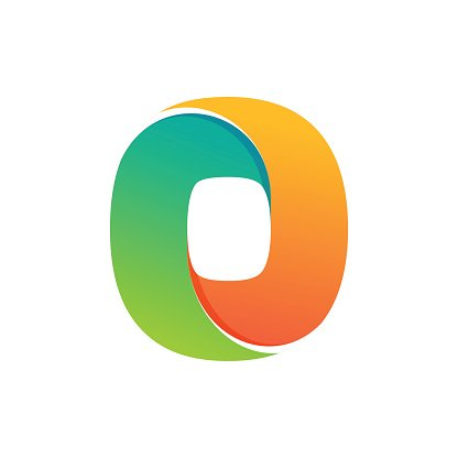 Number zero icon formed by colorful line. Clipart Image.