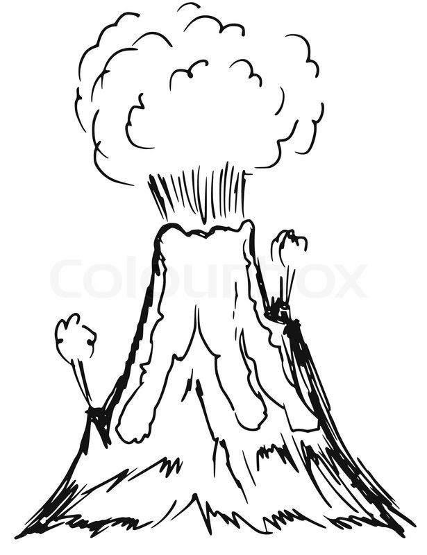 Vulkanausbruch clipart.