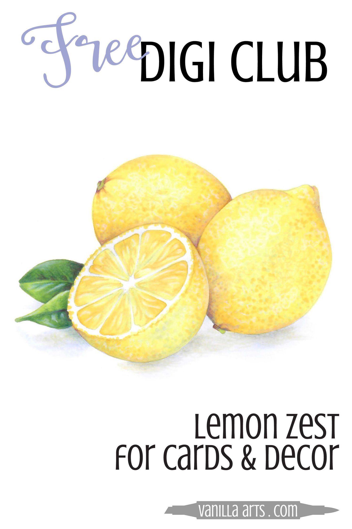 Free Digi Club: Lemon Zest.