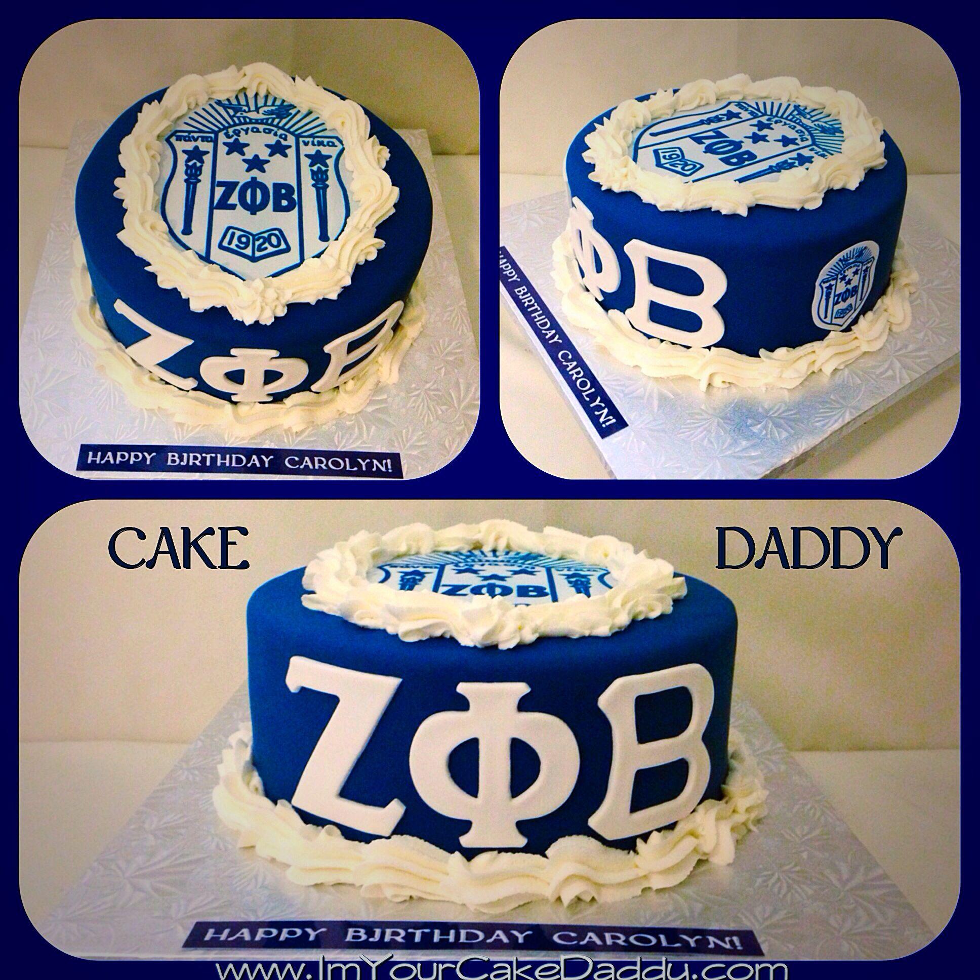 Zeta Phi Beta birthday cake..