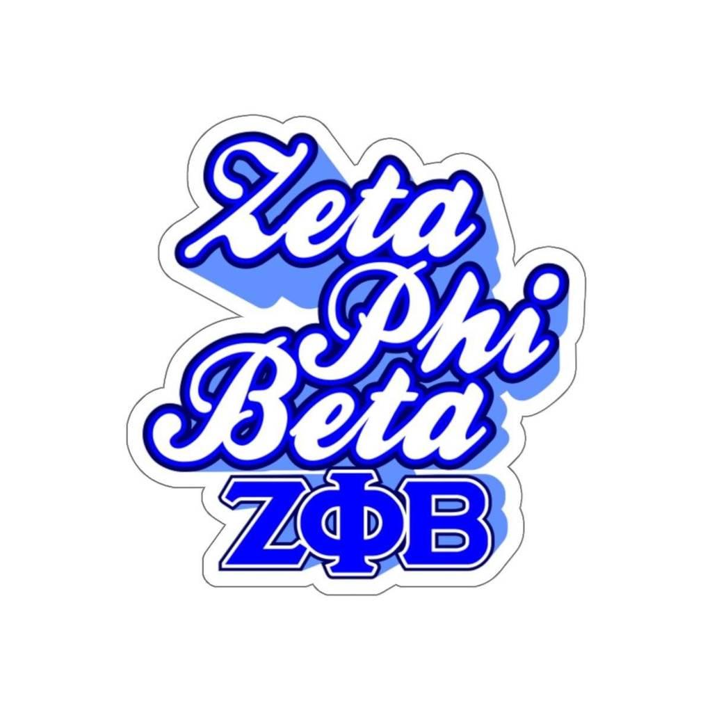 Zeta Phi Beta Greek Stickers.