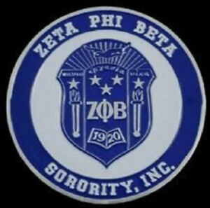 Details about Zeta Phi Beta Sorority Crest Car Emblem.