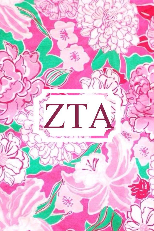 Zeta Tau Alpha Lilly Monogram iPhone Background! Send.