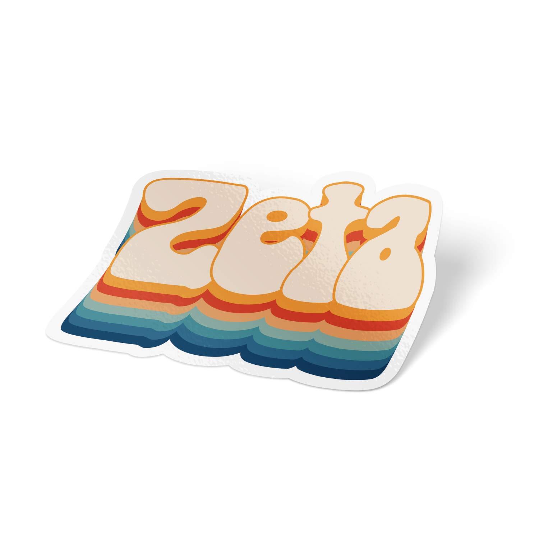Amazon.com: Zeta Tau Alpha 70\'s Sticker Decal Greek for.