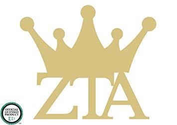 Amazon.com: Zeta Tau Alpha Crown Cutout Unfinished Wood Door.