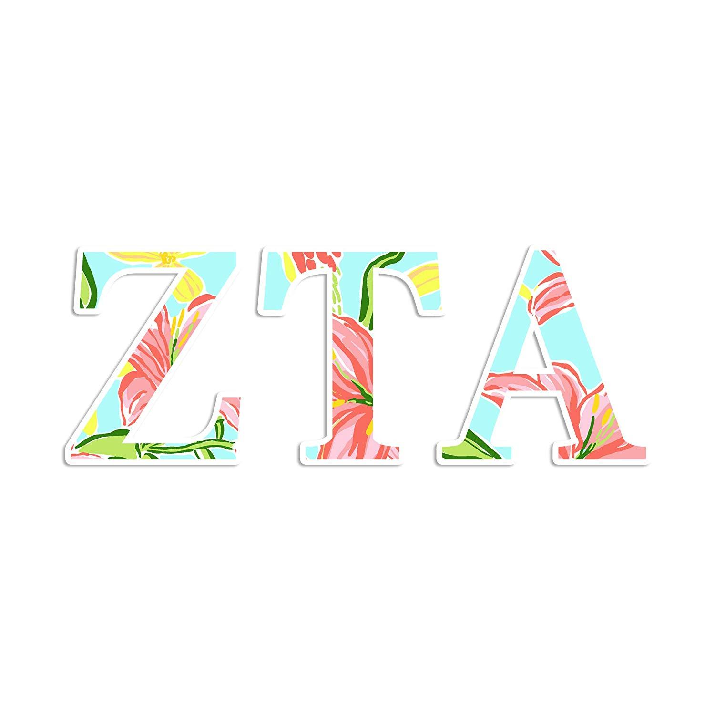 Amazon.com: Zeta Tau Alpha sorority sticker.