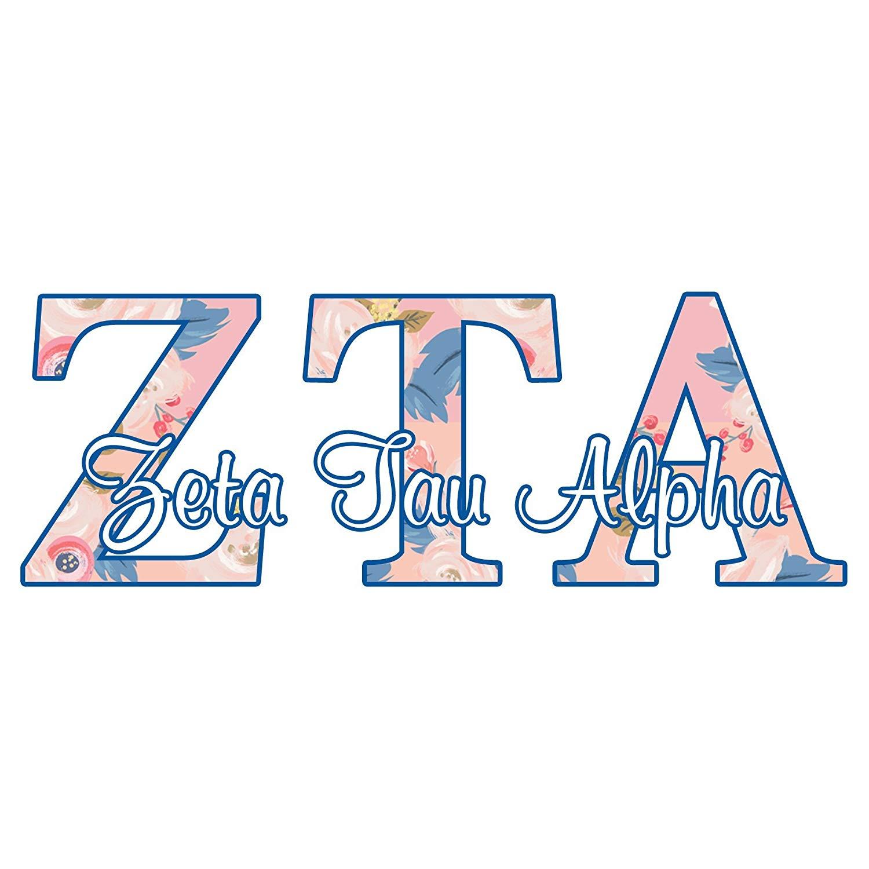 Zeta Tau Alpha sorority decal.