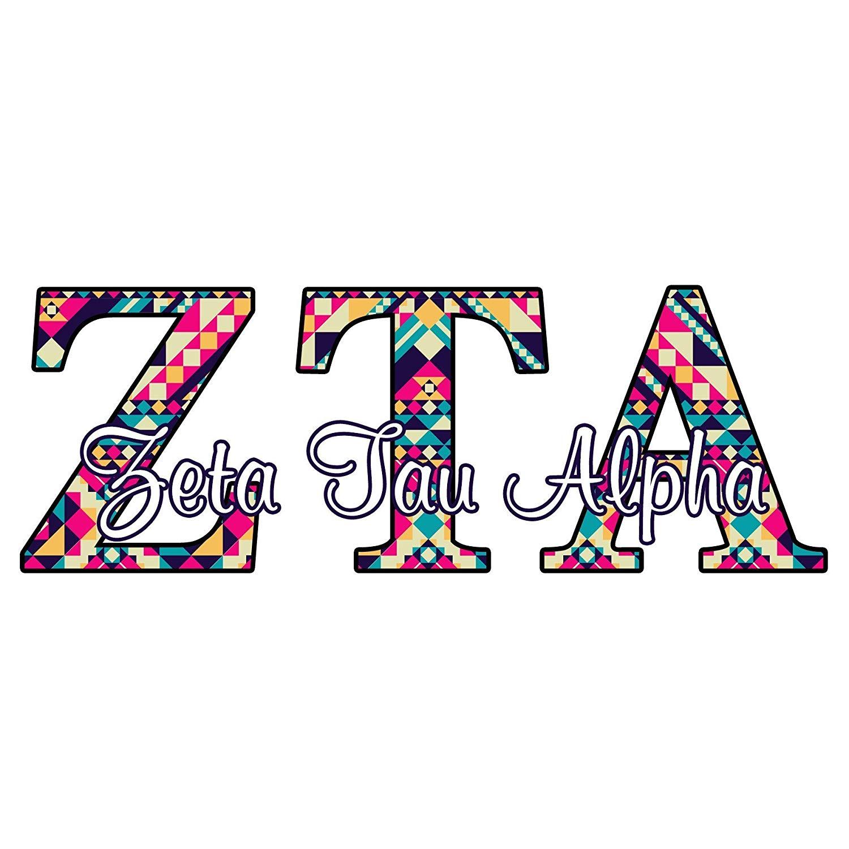 Amazon.com: Zeta Tau Alpha sorority decal.