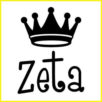 Zeta Tau Alpha Greek Symbol Crown Stamp.