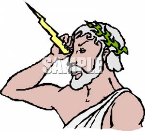 Zeus greek god clipart.