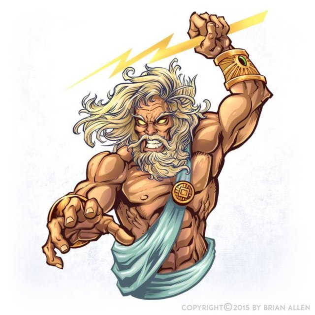 Download Free png Zeus Character Design Flyland Designs, Freelance.