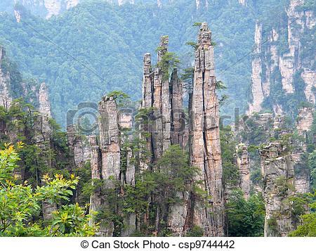 Stock Photo of Zhangjiajie National Park.