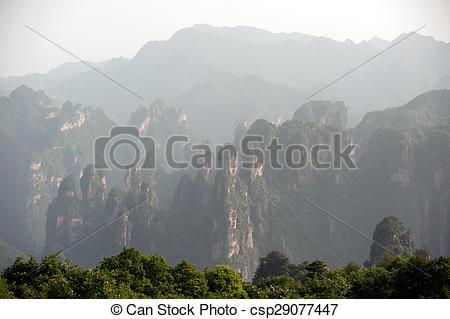 Stock Photo of Mysterious mountains Zhangjiajie..