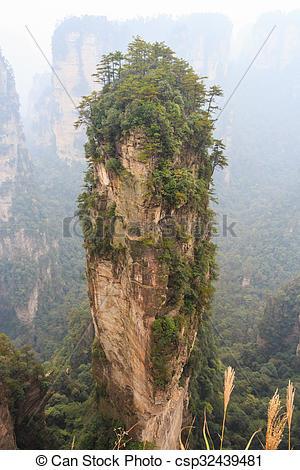 Pictures of Hallelujah mountain in Zhangjiajie national park.